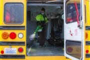 Woodland Public Schools' transportation cooperative uses deep cleaning techniques, new rules, and technology