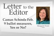 Letter: Camas Schools Feb. 9 ballot measures, Yes or No?