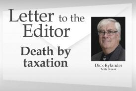 Letter: Death by taxation