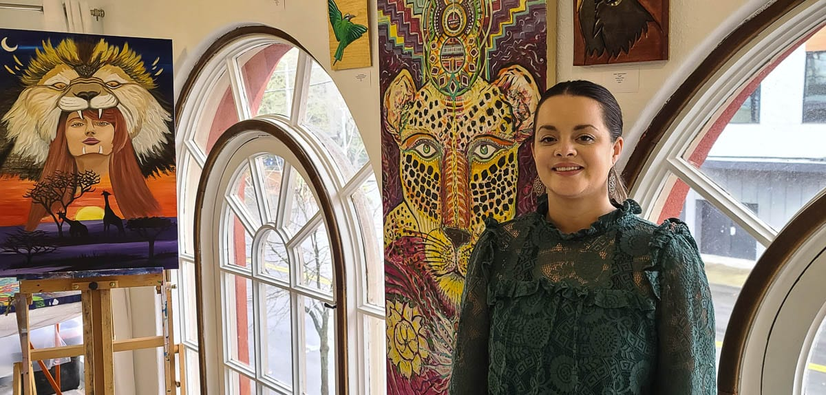 Malee Octavia opened Phoenix Rising Art Gallery last summer with the goal to highlight local artists. Photo by Paul Valencia