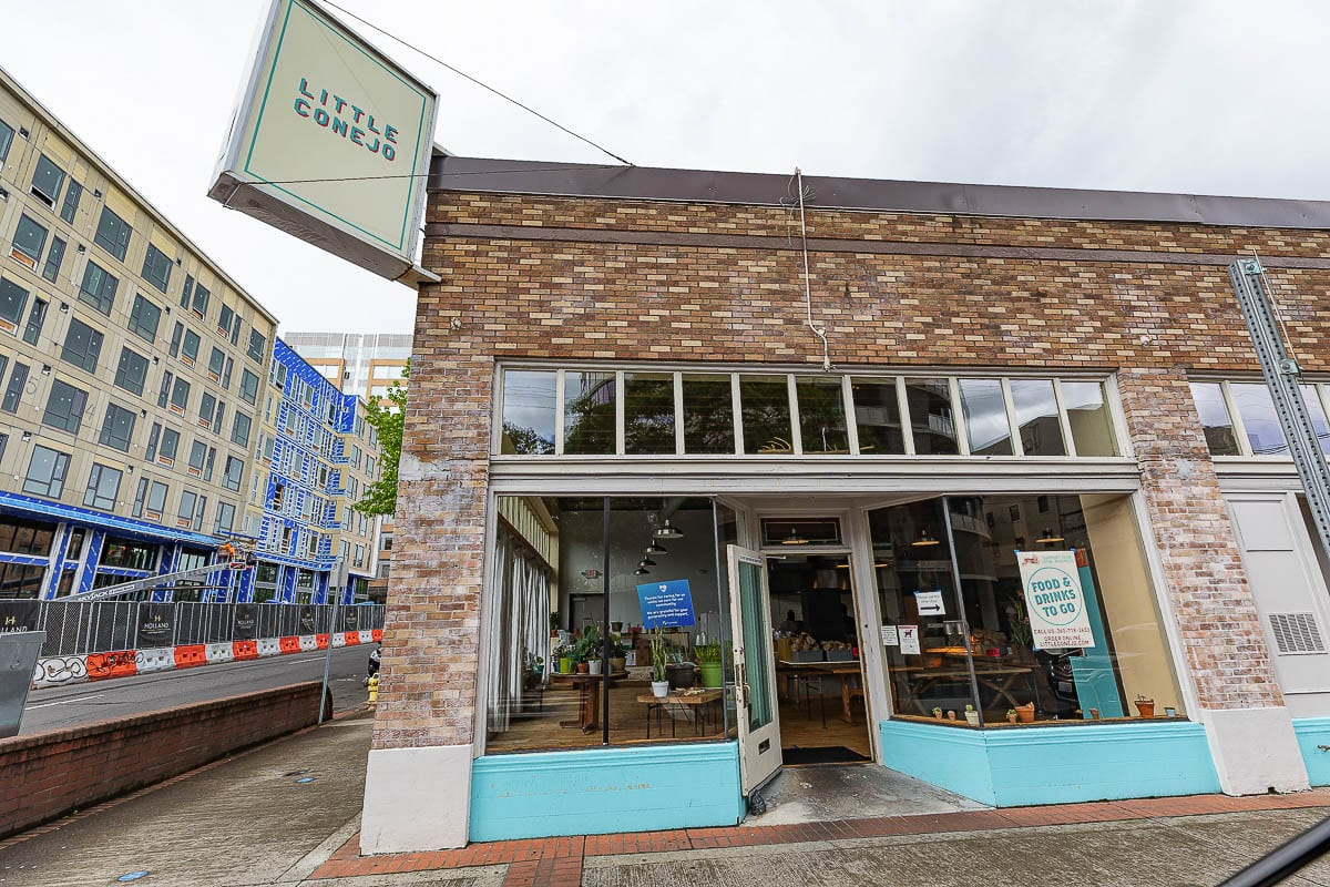 Little Conejo in downtown Vancouver is one of many businesses whose owners are urging the legislature to approve Senate Bill 5114, which would allow indoor dining at 25 percent capacity. Photo by Mike Schultz