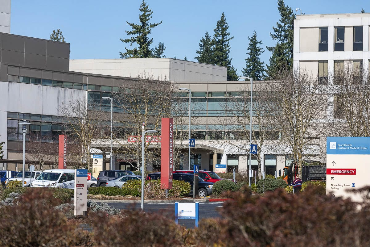 PeaceHealth Southwest Medical Center has identified 30 patients in the hospital that have been confirmed with COVID-19. These patients were not initially admitted for COVID-19 and received a negative COVID-19 test upon admission. File photo