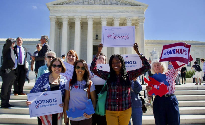 The League of Women Voters on a national level is putting forward educational resources on how citizens can become involved in the redistricting process in their states. Photo courtesy of the LWVUS