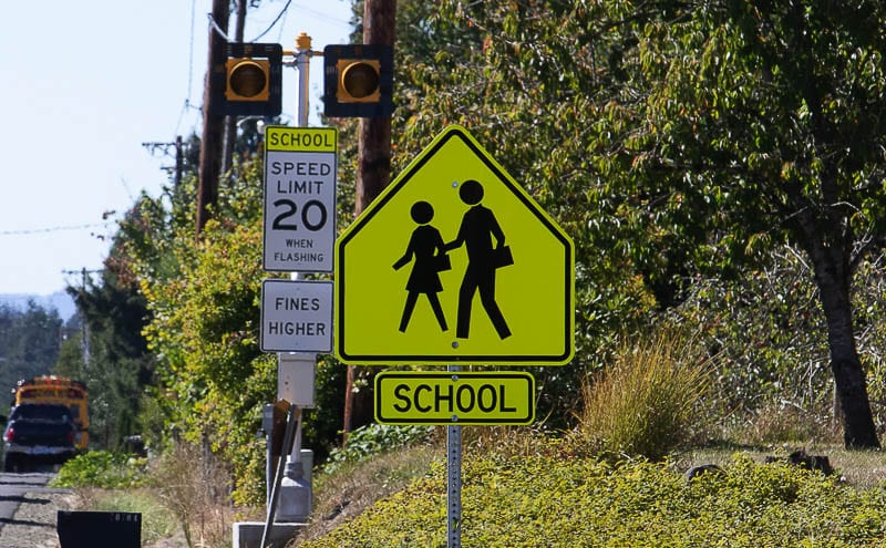 Clark County's school districts have expanded in-person learning at school campuses. School Speed Zones are in effect and deputies will be patrolling to ensure the safety of children and crossing guards during times of school zone activation. File photo
