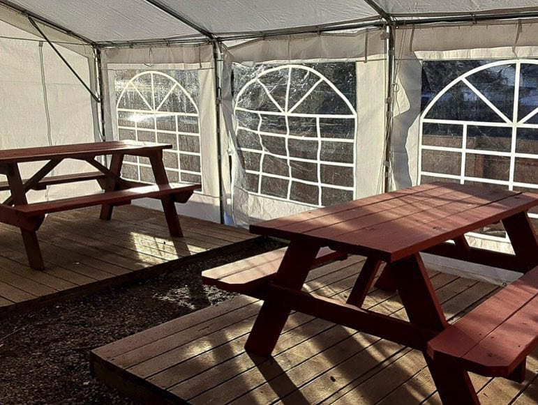 The tent and the beer garden had been approved by Smeads Pub's insurance company and was praised by some for its safety and proper social distancing. Photo by Smeads Pub