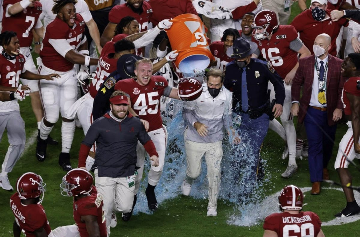 No. 45 Thomas Fletcher, who went to Skyview High School through his sophomore season, said playing for Nick Saban at Alabama turned him into the man he is today. Photo courtesy Fletcher