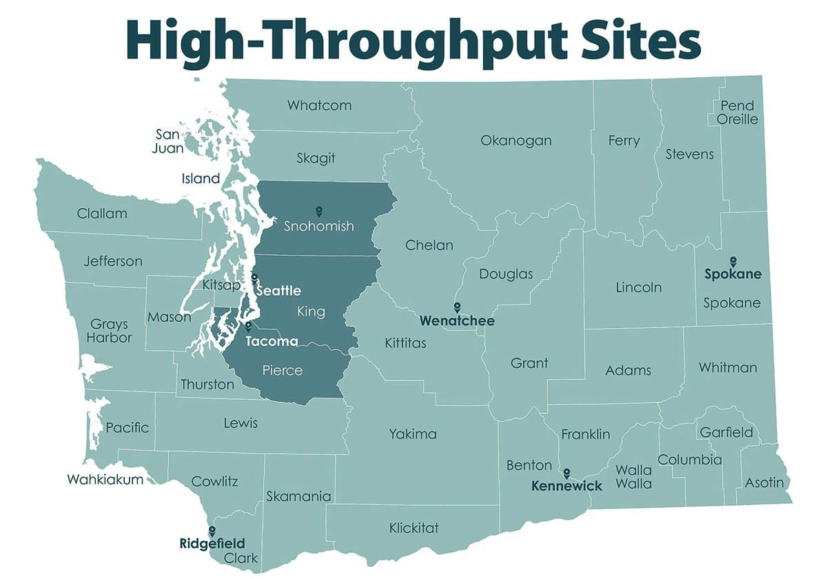 At least five mass vaccination sites are planned around the state, including one at the Clark County Fairgrounds in Ridgefield. Image courtesy Office of Washington Gov. Jay Inslee