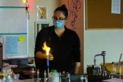 Woodland High School science teacher uses explosive experiments to engage students in a remote-learning environment