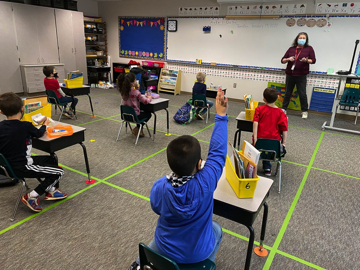 The Washougal School District will expand its hybrid learning model this week. The district's timeline calls for grade six to begin the hybrid model starting Thursday. Photo courtesy of Washington School District