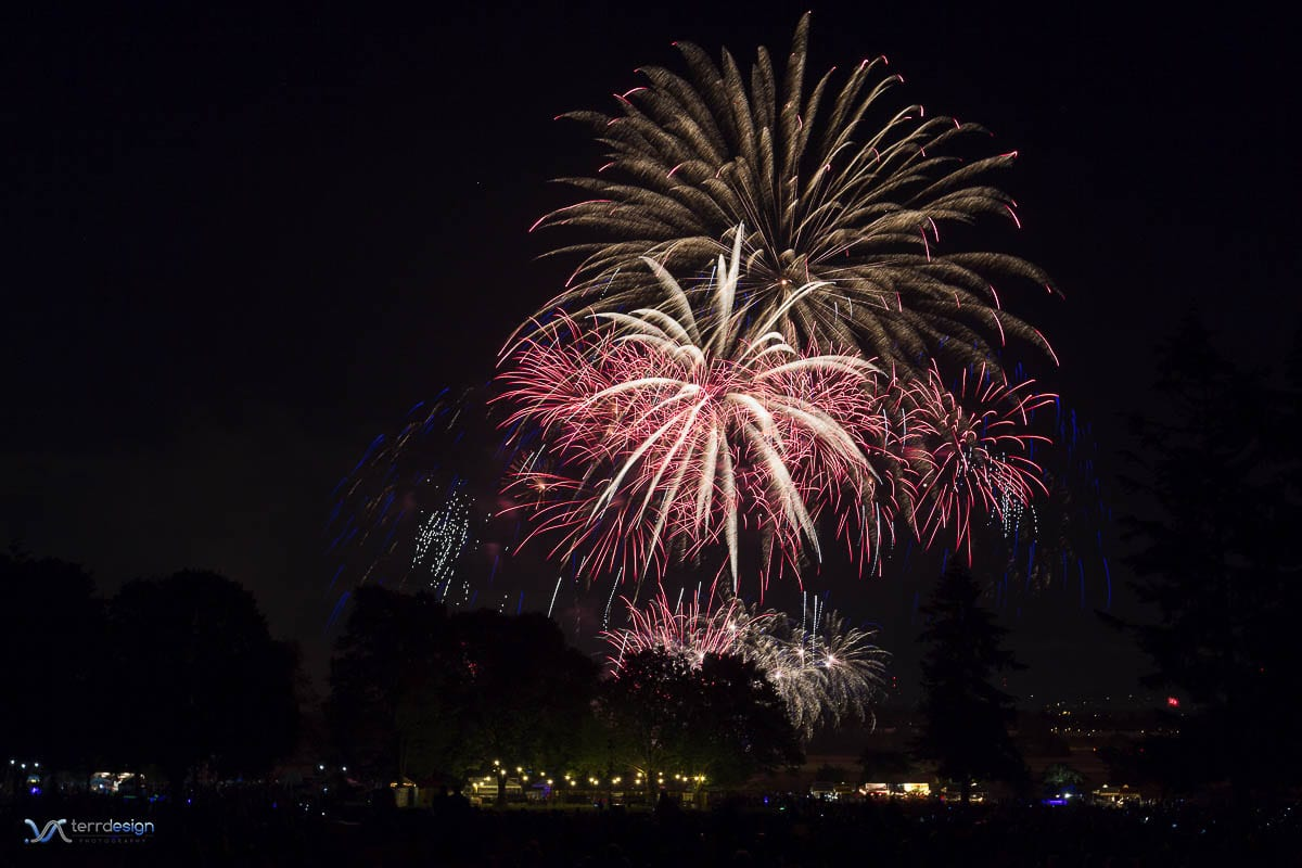 The fireworks show at Fort Vancouver, seen here, has become a traditional part of the July festivities for many in the region. Photo courtesy of Terrdesign Photography