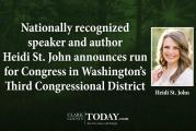 Nationally recognized speaker and author Heidi St. John announces run for Congress in Washington's Third Congressional District
