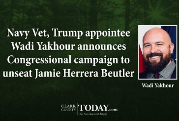 Navy Vet, Trump appointee Wadi Yakhour announces Congressional campaign to unseat Jamie Herrera Beutler