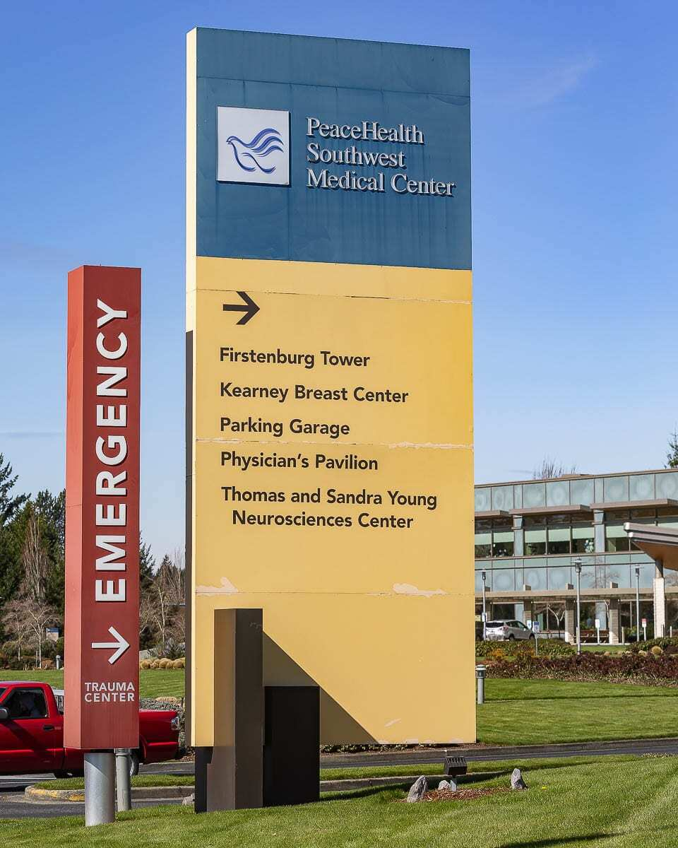 With community transmission falling in Clark County, beginning today (Feb. 25), PeaceHealth Southwest Medical Center will lift its ''no visitor'' policy to allow one visitor per day, per patient, with some limited exceptions. Photo by Mike Schultz