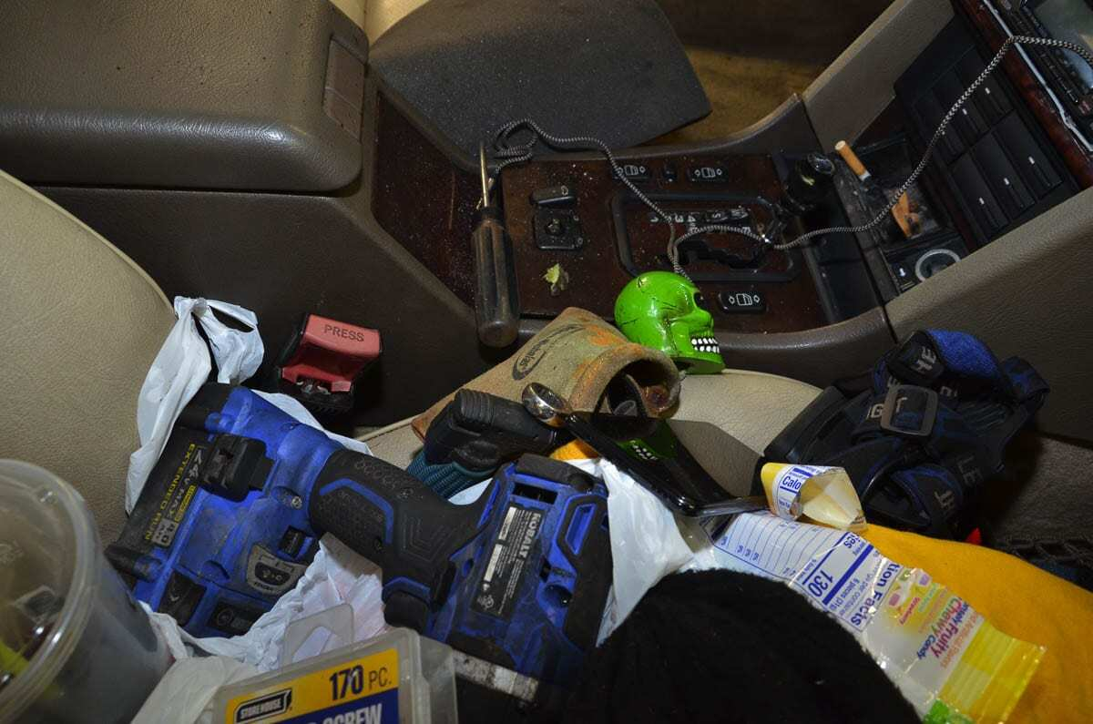 Photo #1 shows the vehicle from the view of the passenger side prior to removal of any items. Photo courtesy of SW Washington Independent Investigative Response Team