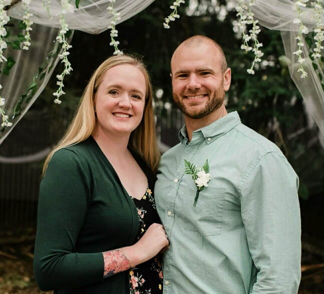 Steven Forgette and his wife Brittany, both Heritage High School graduates, remain part of Clark County. Steven excelled at Eastern Washington football and now is a law enforcement officer for the Camas Police Department. Photo courtesy Steven Forgette