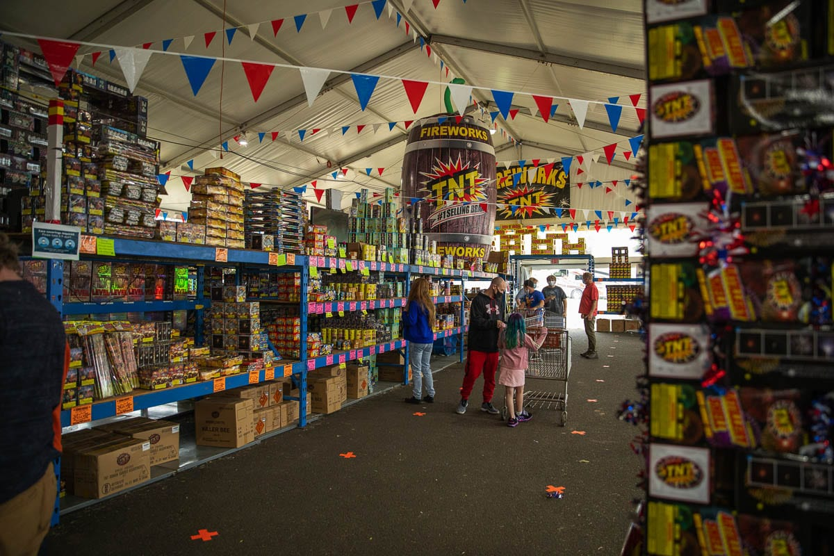 The TNT Fireworks Warehouse in Hazel Dell is one of the county's largest sellers of fireworks during the Fourth of July holiday. Photo by Jacob Granneman