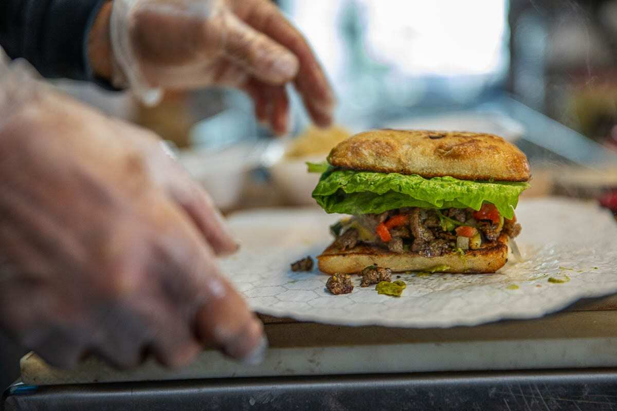 A finished torta, complete with homemade avocado spread and special pico is seen here. Photo by Jacob Granneman
