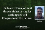 US Army veteran Joe Kent throws his hat in ring for Washington's 3rd Congressional District seat