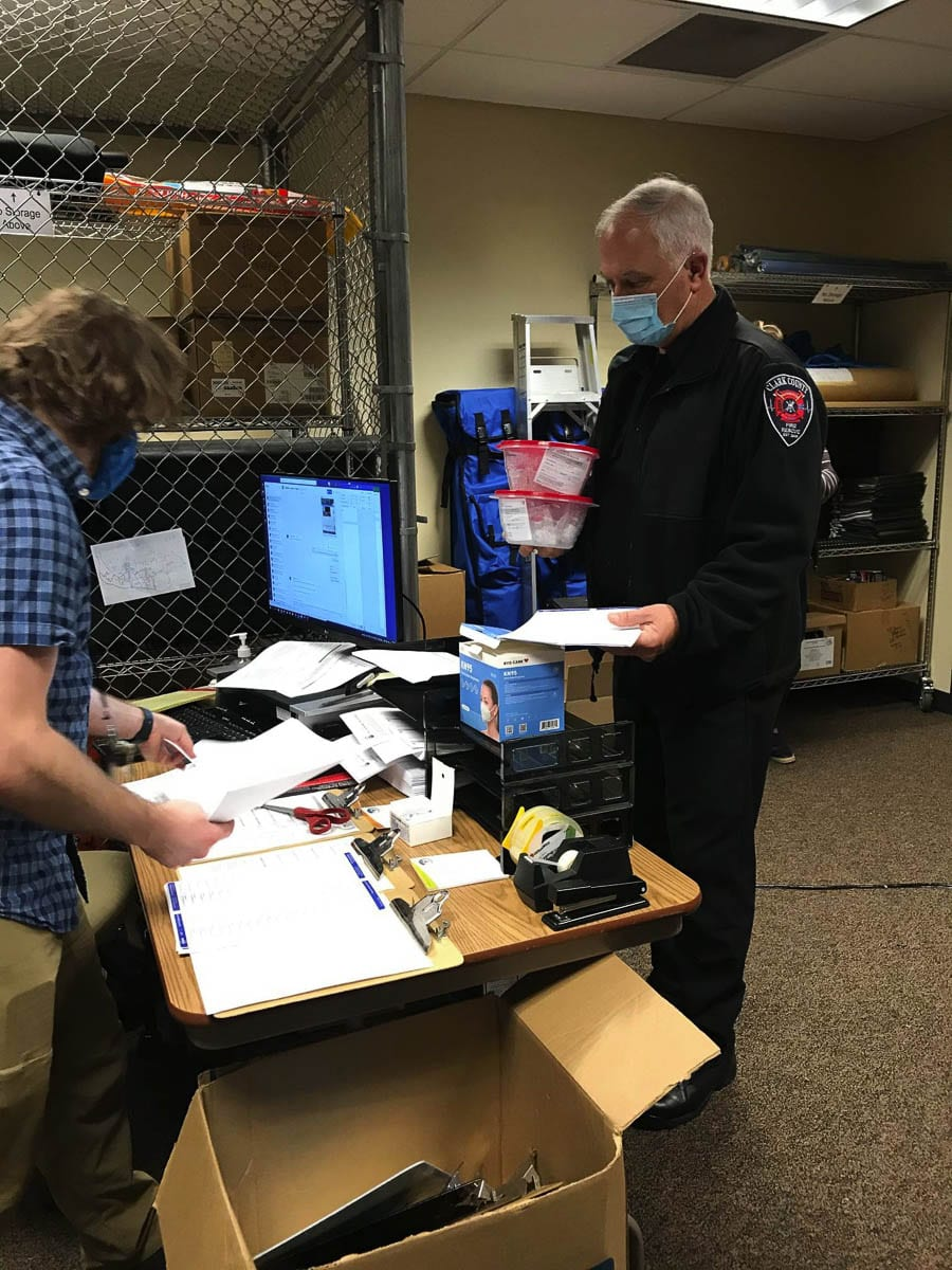 Paramedics with Clark-Cowlitz Fire and Rescue helped to administer more than 930 COVID-19 vaccinations at long-term care facilities in the area over two days last week. Photo courtesy Clark County Public Health