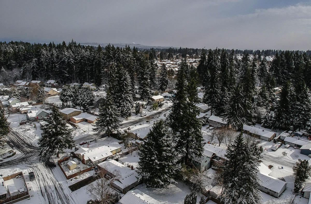 Snow blankets part of Vancouver during Jan. 2020. Photo by Jacob Granneman
