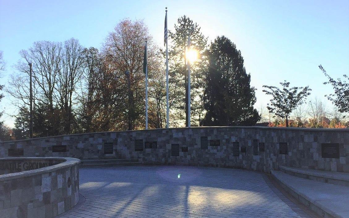 Battle Ground Veterans Memorial. Photo courtesy of city of Battle Ground