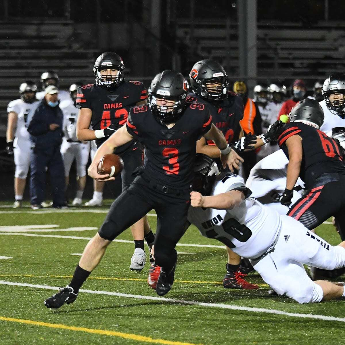 Jake Blair said he takes pride in representing not just his team but the community as the quarterback at Camas. Photo courtesy Kris Cavin