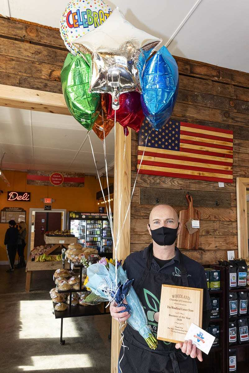 Anthony Kasziewicz supports nonprofits, veterans, and those in need. He chooses to carry local products at the Woodland Corner Store and believes in supporting local efforts. Photo courtesy of Woodland Chamber of Commerce