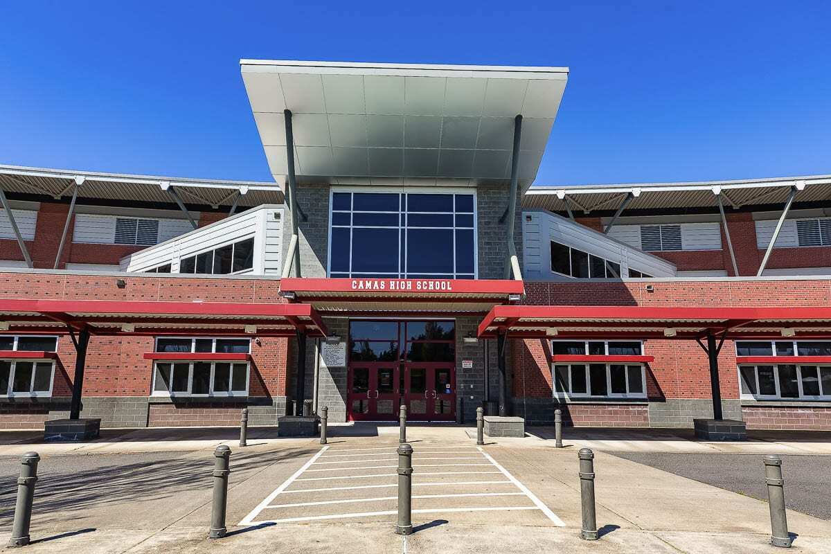 Camas High School officials announced Friday a return to in-person, hybrid instruction beginning on Thu., March 18 for cohort B following a pause put in place on March 10. Photo by Mike Schultz