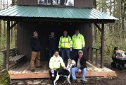 Camas Lions help restore wind and ice damaged structure at Camp Currie