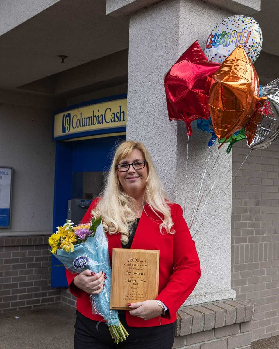 Joy Asmussen has numerous board positions for many community organizations including Woodland Historical Museum, Planters Days, Chamber of Commerce, Preschool co-op, Rotary, and the Christmas Giving project. Photo courtesy of Woodland Chamber of Commerce