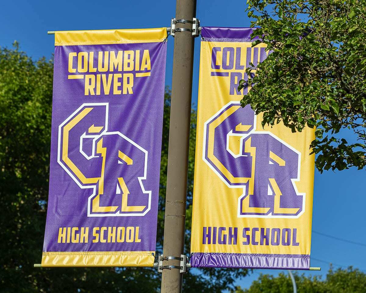 The school board has asked for more options for a new branding at Columbia River High School. The board retired Chieftains in September and the school is hoping to vote on a new mascot this school year. Photo by Mike Schultz