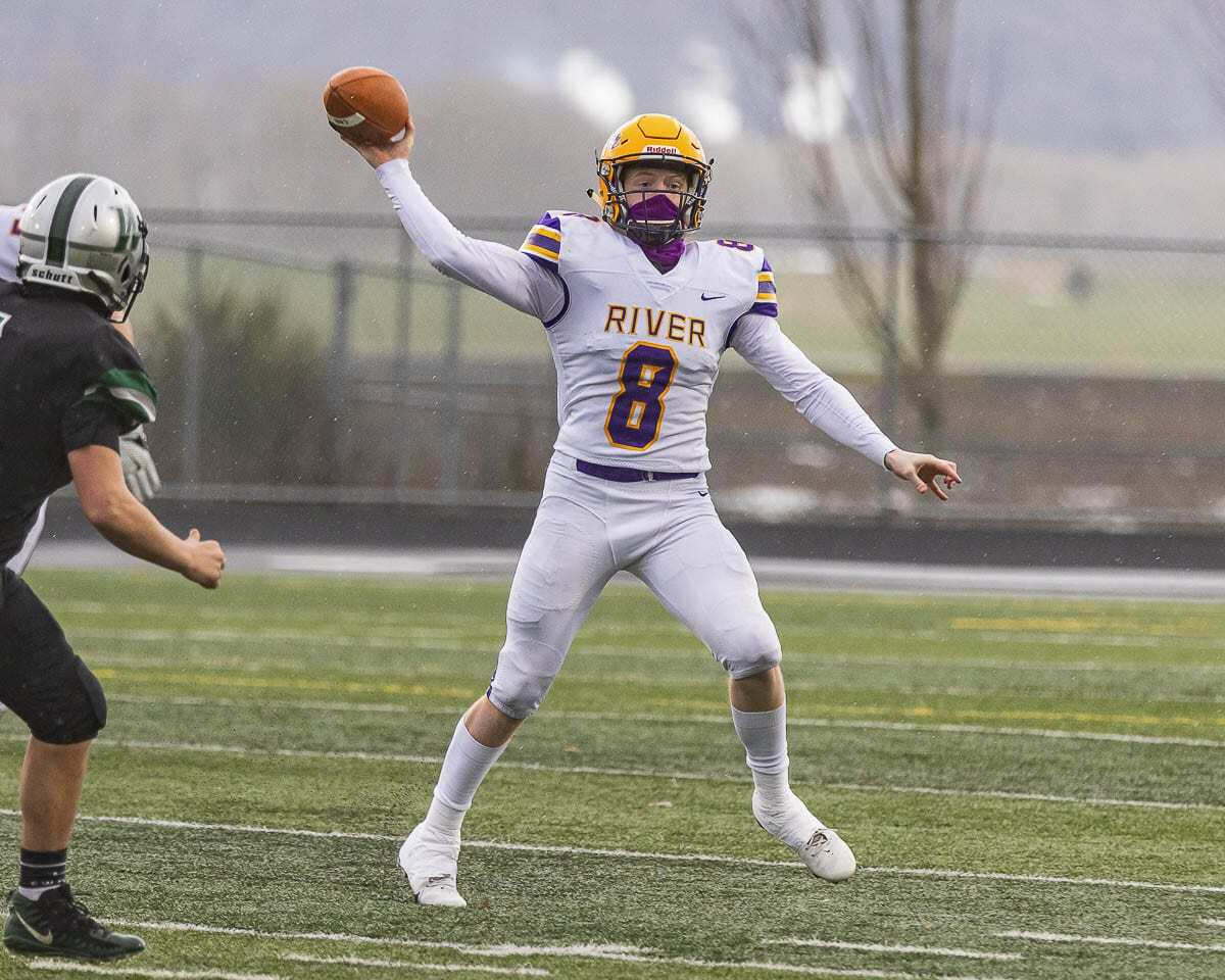 Mason Priddy said playing in just a couple of games before he was injured was a lot better than playing in no games this football season. Photo by Mike Schultz