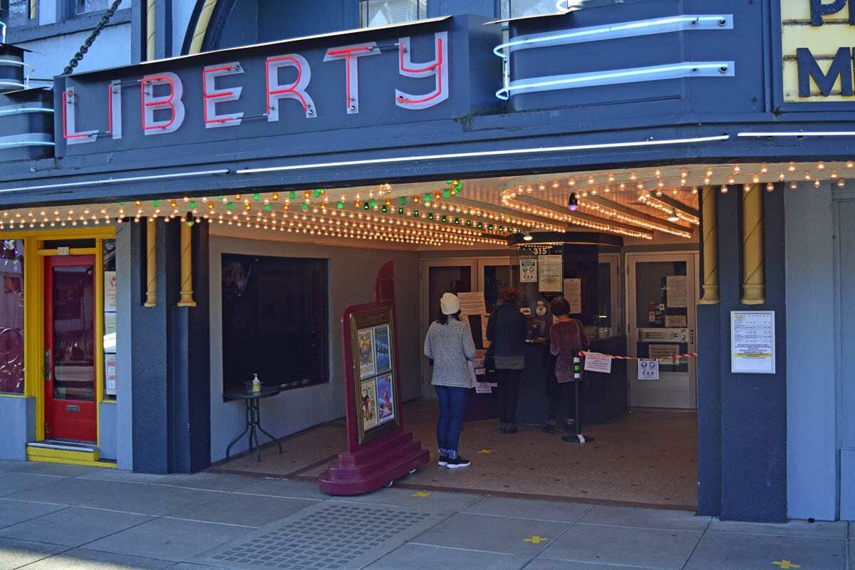 The Liberty Theatre in Camas is now offering showtimes Wednesday through Sunday with COVID protocols. Photo by Dan Trujillo