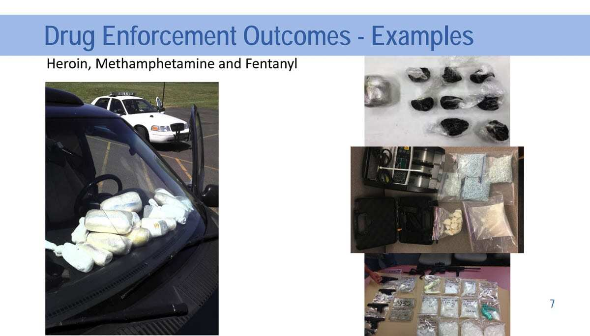 Images of recent drug seizures following investigations by Vancouver Police Department. Image courtesy Vancouver Police Department