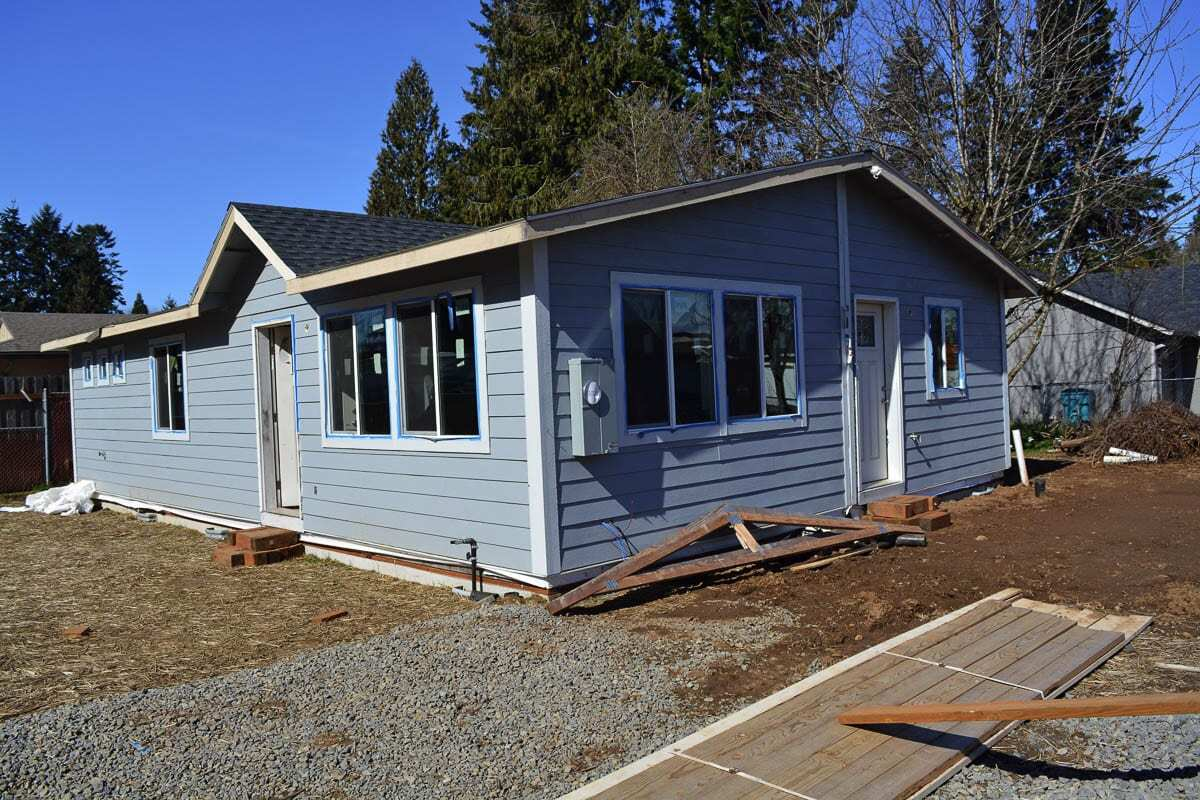 Evergreen Habitat for Humanity brought visitors into this future home, 9814 N.E. 69th Street in Vancouver, on a Facebook Live virtual tour Thursday as part of International Women's Build Week. Photo by Dan Trujillo.