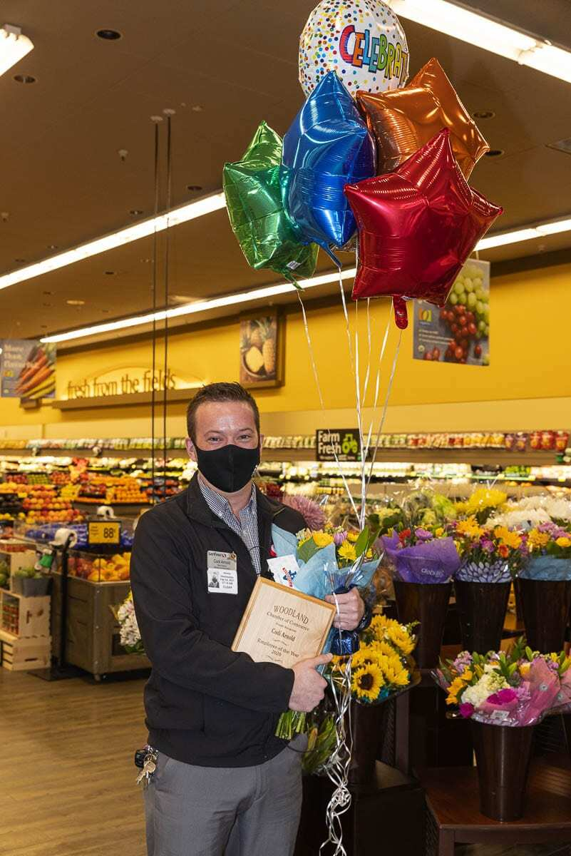 Codi Arnold joined the community after accepting the position of manager at the local Safeway. Photo courtesy of Woodland Chamber of Commerce