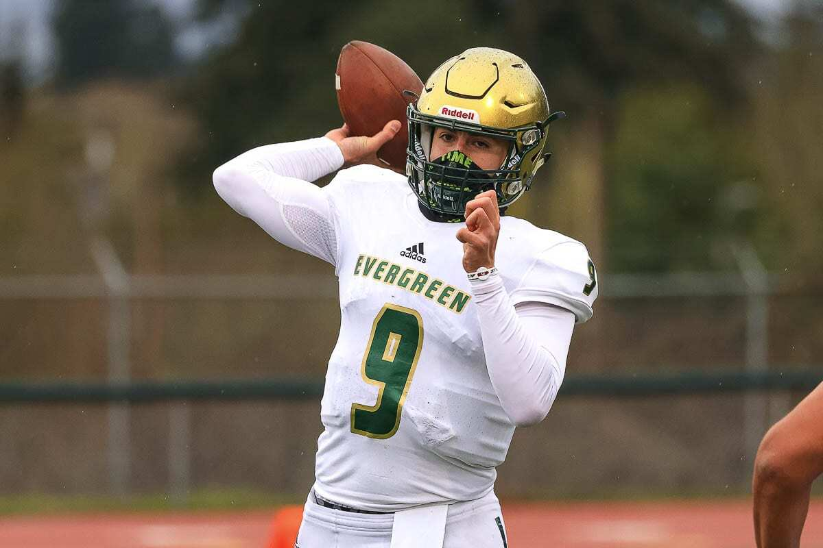 JJ Woodin moved to Vancouver from Oregon last winter, and he is grateful he now has a chance to shine with the Evergreen Plainsmen. Photo by Mike Schultz