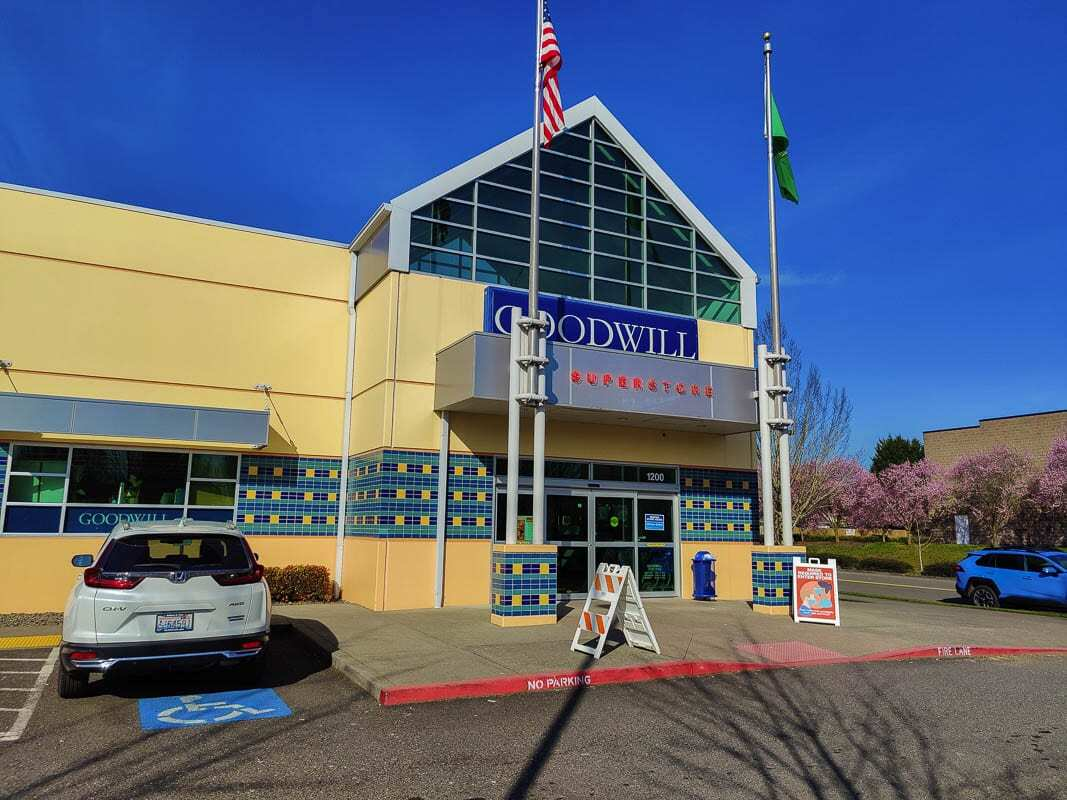The Fisher's Landing Goodwill location in east Vancouver is one of Clark County's busiest, especially during Spring Cleaning. Photo by Chris Brown