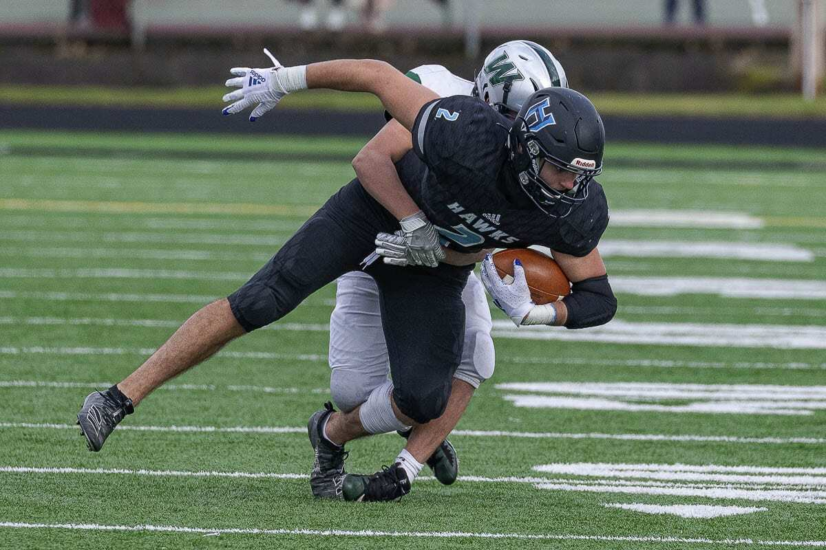 Hockinson's Jake Talarico, shown here in Week 2, had a strong start to the season before an injury in Week 3. Photo by Mike Schultz