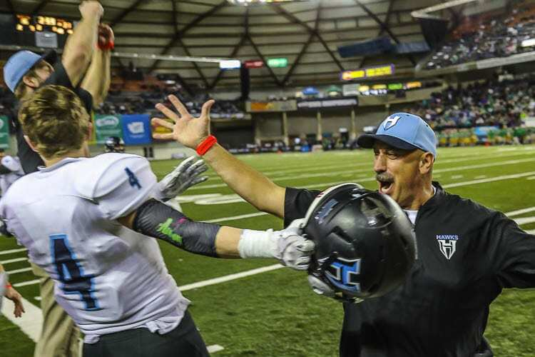 Emotion was never something that was in short supply on the Hockinson sideline when coach Rick Steele was around. Photo by Mike Schultz