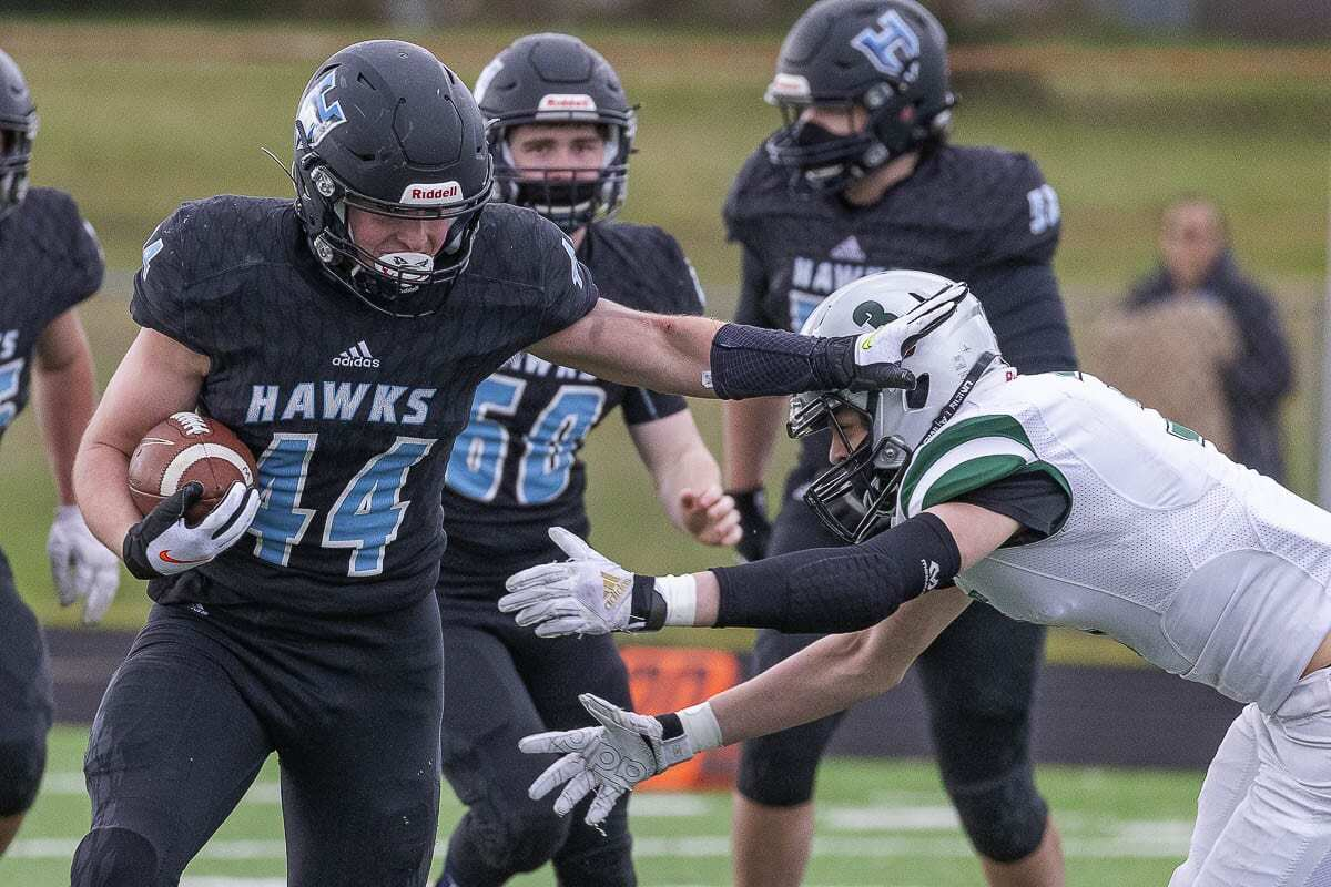 Hockinson's Cody Wheeler said he takes pride in representing Southwest Washington, playing for one of the premiere programs in the state. Photo by Mike Schultz