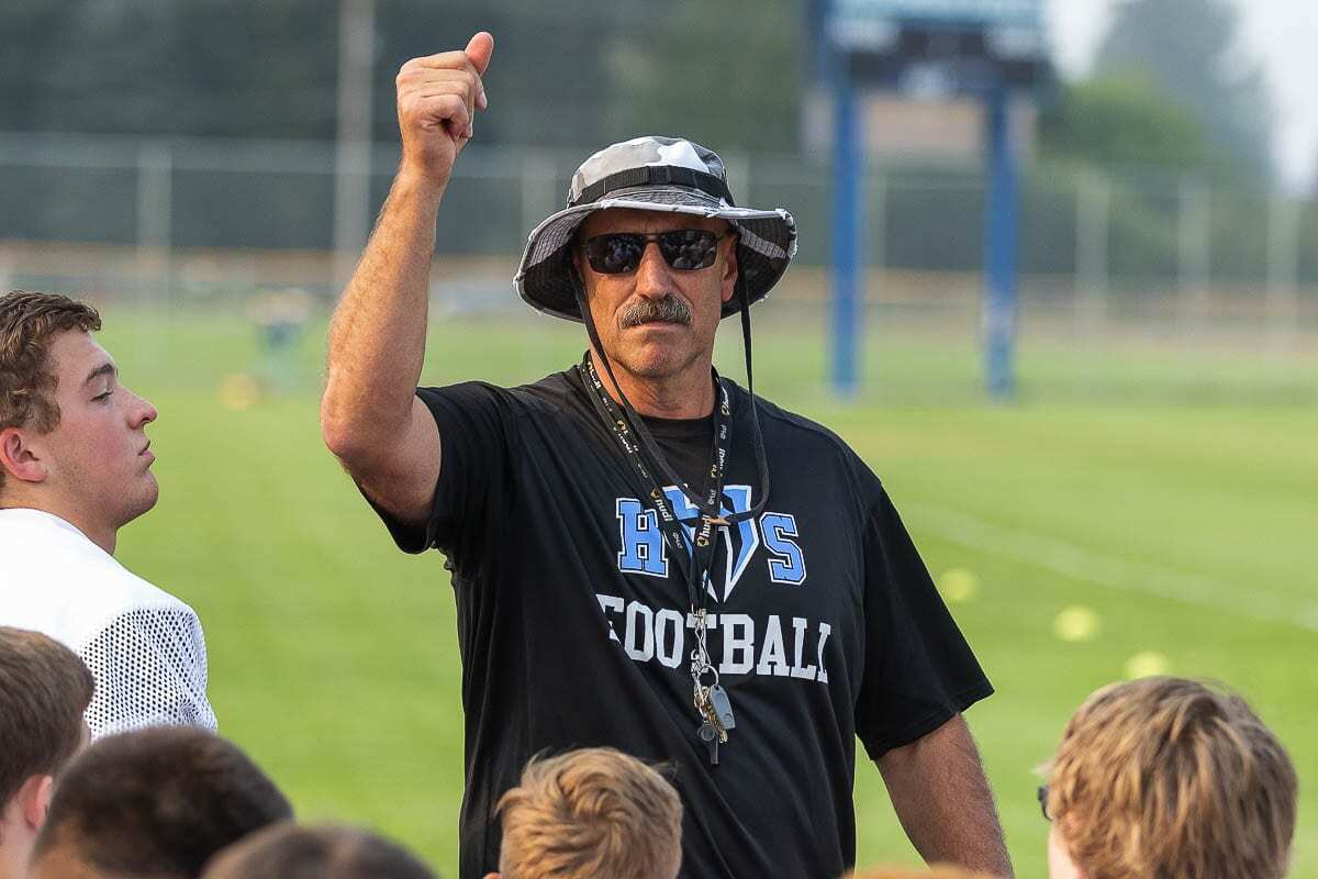 You might say that Hockinson football coach Rick Steele was one of a kind. Photo by Mike Schultz