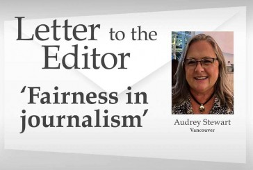 Letter: 'Fairness in journalism'