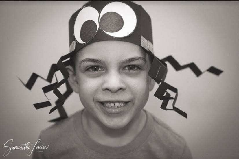 Nico Bolton models his cool spider hat project. Photo courtesy of Ridgefield School District, Union Ridge Elementary, Shandel Oderman