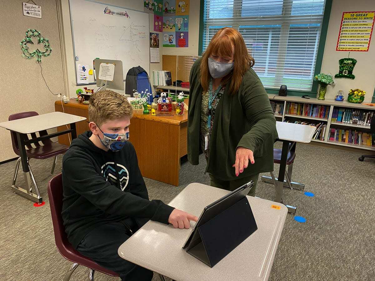 Canyon Creek Middle School sixth grader Noah Dentler is an example of the significant progress some students were able to make during the pandemic. Photo courtesy of Washougal School District