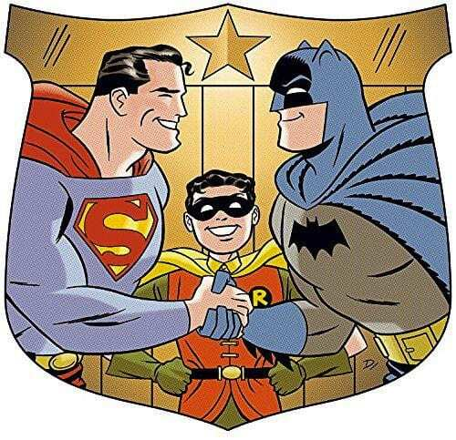 This radio show from 1948 features The Man of Steel teaming with The Dark Knight and Robin to stop the sinister Mr. Jones. Image courtesy of Dan Trujillo