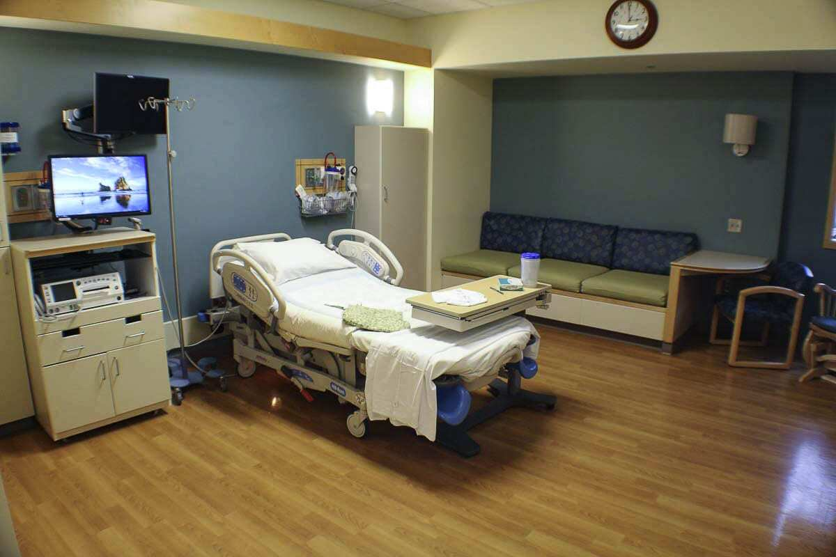 One of the birthing suites at the PeaceHealth Southwest Medical Center is shown here. Photo courtesy of PeaceHealth Southwest Medical Center