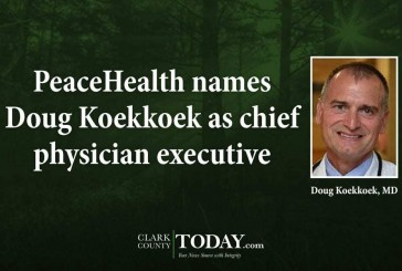 PeaceHealth names Doug Koekkoek as chief physician executive