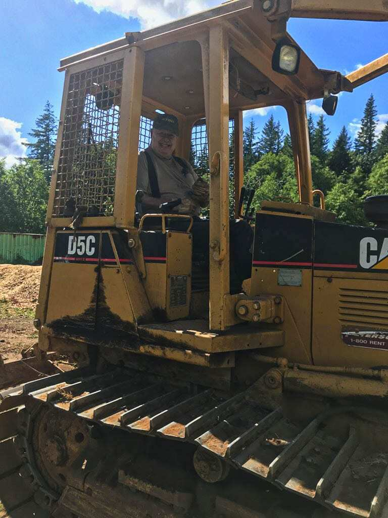 Ralph Huffman could always be seen on a bulldozer, making fixes to the Washougal MX Park. Huffman, 83, the co-owner of the track, died Monday. Photo courtesy of the Huffman family