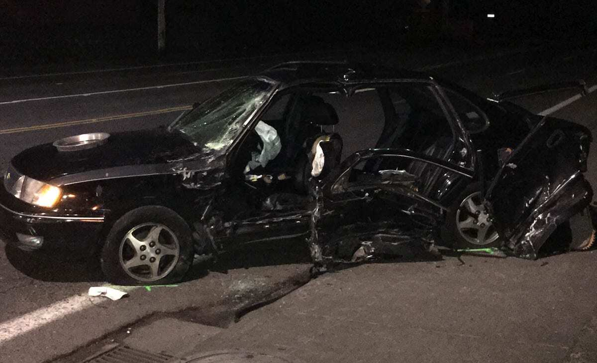The driver of the Toyota was identified as Alexei A. Kendall-Bray, age 20, of Vancouver. Kendall-Bray is recovering from injuries sustained in Monday's accident. Photo courtesy of Clark County Sheriff's Office